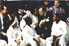 Jeff Smith and President George Bush